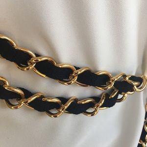 St. John Accessories - Rare auth. St. John collection gold chain knit bel